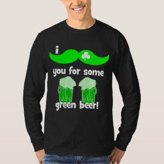 el día de St Patrick divertido del bigote Playera