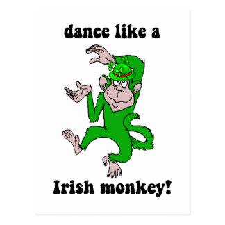 El día de St Patrick divertido del mono Tarjeta Postal