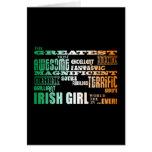 El día de St Patrick: El chica irlandés más grande Tarjetas