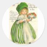 El día de St Patrick Etiqueta Redonda