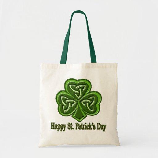 El día de St Patrick feliz Bolsas De Mano