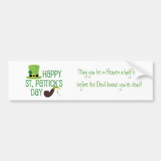 El día de St Patrick feliz Pegatina De Parachoque