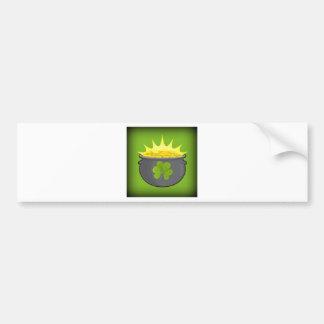 ¡El día de St Patrick feliz Etiqueta De Parachoque