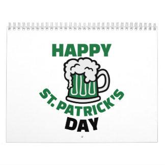 El día de St Patrick feliz Calendario De Pared