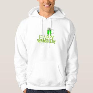 El día de St Patrick feliz de la cerveza verde Sudadera