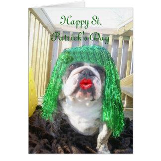 El día de St Patrick feliz de Wilma Tarjeta De Felicitación