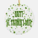 El día de St Patrick feliz Ornamentos De Reyes Magos