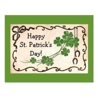 ¡El día de St Patrick feliz del vintage! Postales