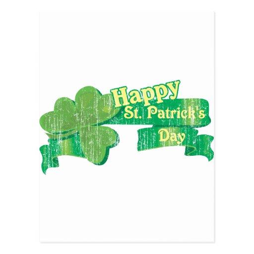 El día de St Patrick feliz del vintage Postales