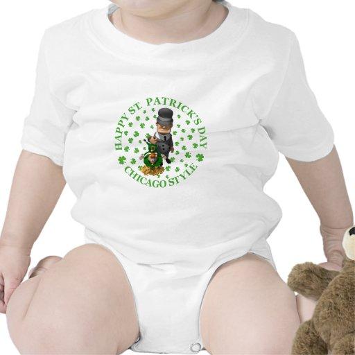 El día de St Patrick feliz - estilo de Chicago Trajes De Bebé