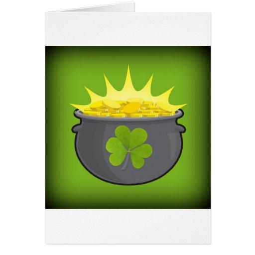 ¡El día de St Patrick feliz! Felicitaciones