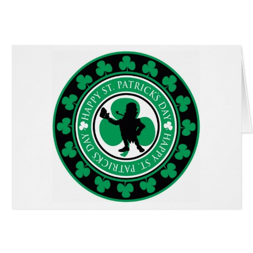 El día de St Patrick feliz Felicitaciones