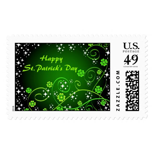 El día de St Patrick feliz - franqueo Estampilla