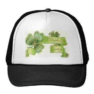 El día de St Patrick feliz Gorros Bordados