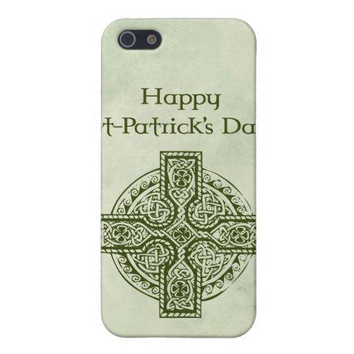 El día de St Patrick feliz iPhone 5 Protectores