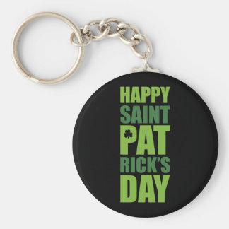 El día de St Patrick feliz Llaveros