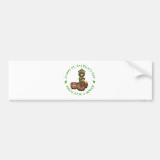 El día de St Patrick feliz - orgulloso ser un jeng Etiqueta De Parachoque