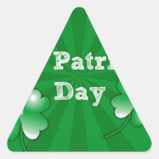 El día de St Patrick feliz Colcomanias De Triangulo Personalizadas