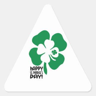 ¡El día de St Patrick feliz! Pegatina Triangulo