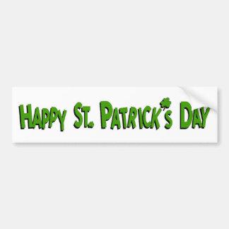 El día de St Patrick feliz Pegatina Para Auto