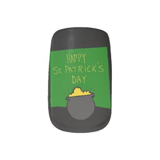El día de St Patrick feliz Pegatinas Para Uñas