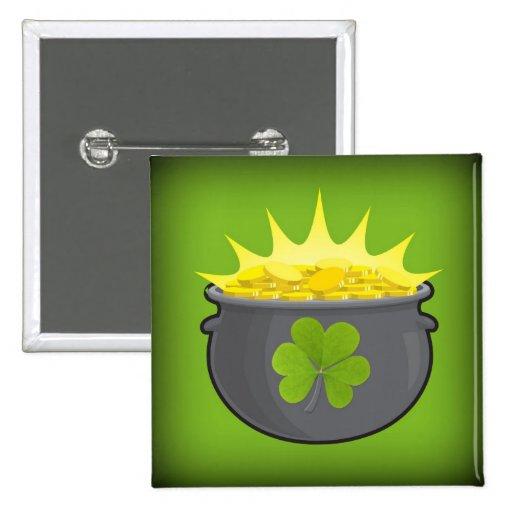 ¡El día de St Patrick feliz! Pin Cuadrada 5 Cm