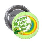 ¡El día de St Patrick feliz! Pin Redondo 5 Cm