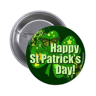 El día de St Patrick feliz Pin Redondo De 2 Pulgadas