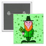 El día de St Patrick feliz Pins