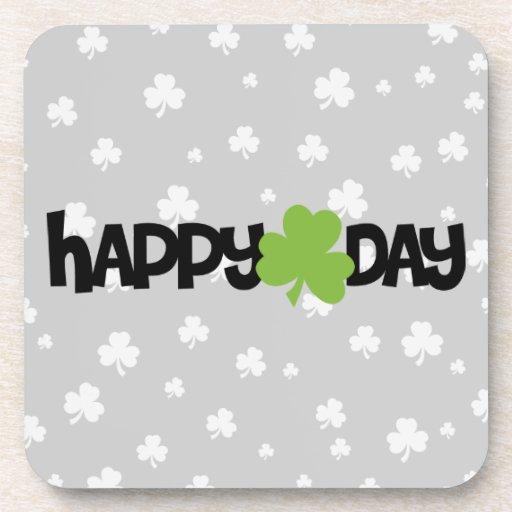 El día de St Patrick feliz Posavasos De Bebidas