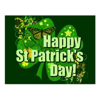 El día de St Patrick feliz Postal