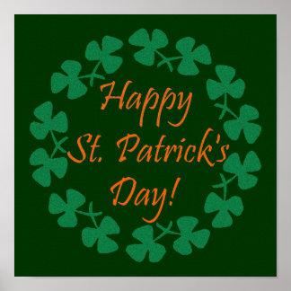 El día de St Patrick feliz Póster