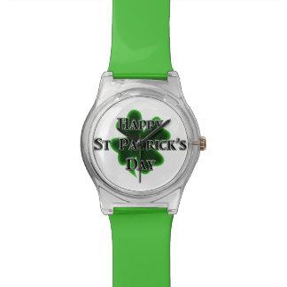 El día de St Patrick feliz Reloj De Mano