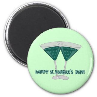 El día de St Patrick feliz - Shamrocktini II Imán Redondo 5 Cm