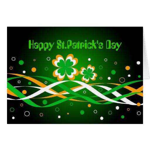 El día de St Patrick feliz - tarjeta