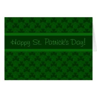 El día de St Patrick feliz Tarjeta