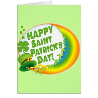 ¡El día de St Patrick feliz! Tarjeta De Felicitación
