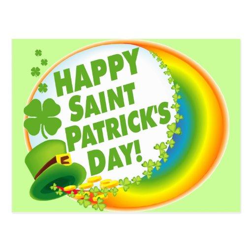 ¡El día de St Patrick feliz! Tarjeta Postal