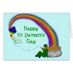 El día de St Patrick feliz Tarjetas