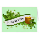 El día de St Patrick feliz Tarjeton