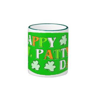 El día de St Patrick feliz Taza De Dos Colores