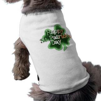 El día de St Patrick feliz (texto irlandés del col Ropa Para Mascota