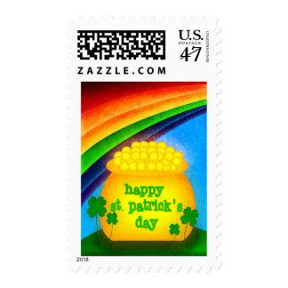 El día de St Patrick feliz Timbres Postales