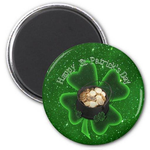 El día de St Patrick feliz - todo verde Imán Para Frigorifico