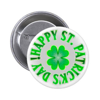 ¡El día de St Patrick feliz! Trébol del vintage Pin