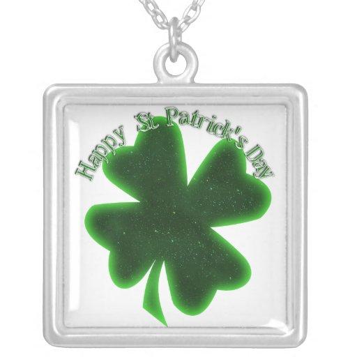 El día de St Patrick feliz - trébol grande Grimpolas