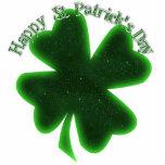 El día de St Patrick feliz - trébol grande Escultura Fotografica