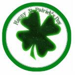 El día de St Patrick feliz - trébol grande Escultura Fotográfica