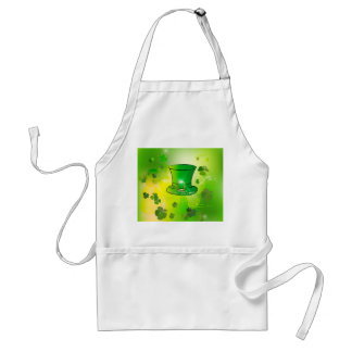 El día de St Patrick, gorra verde con la herradura Delantales