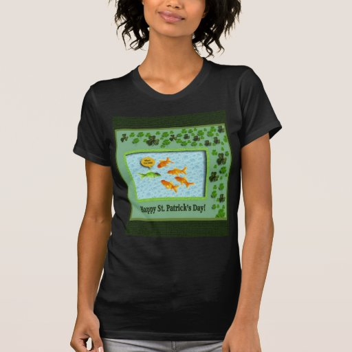 El día de St Patrick, humor del Goldfish Camisetas